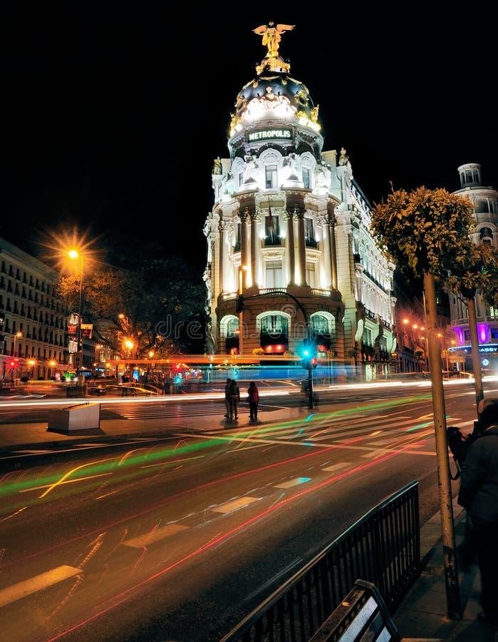 Здание метрополии, Мадрид, Испания стоковая фотография rf