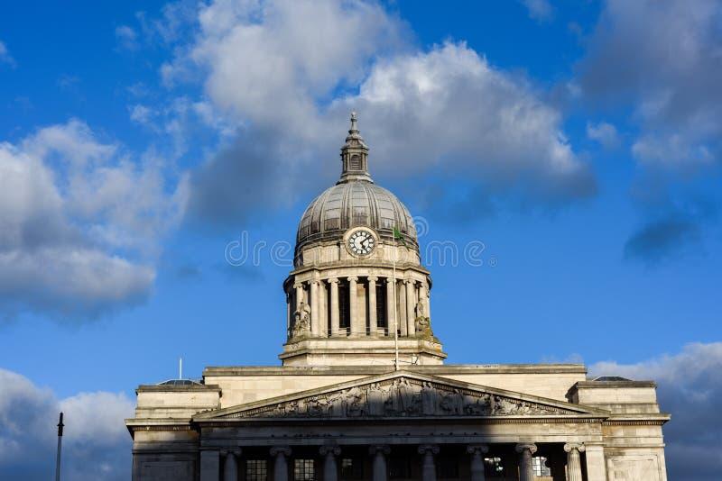 Здание здание муниципалитета Ноттингема, Великобритания стоковые изображения