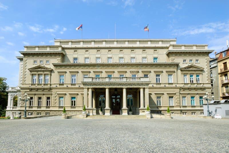 Здание муниципалитет Белград стоковое фото