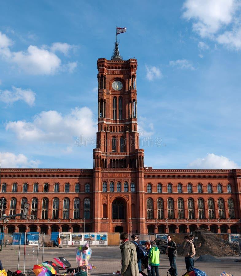 Здание муниципалитет Берлин стоковая фотография