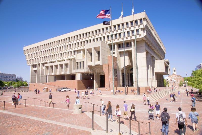 Здание муниципалитет Бостон стоковые изображения