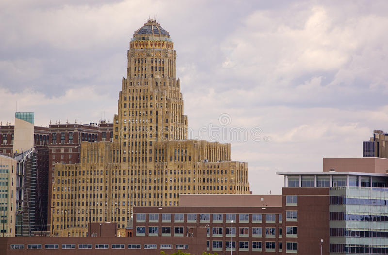 здание муниципалитет буйвола стоковые фото