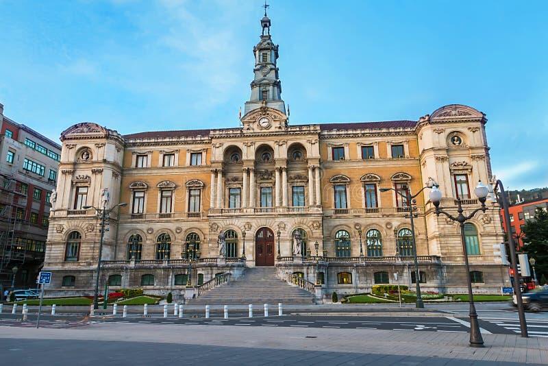 Здание муниципалитет в Бильбао, Бискайе стоковое изображение rf