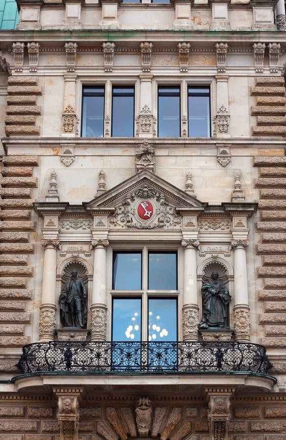 Здание муниципалитет Гамбурга стоковые фото