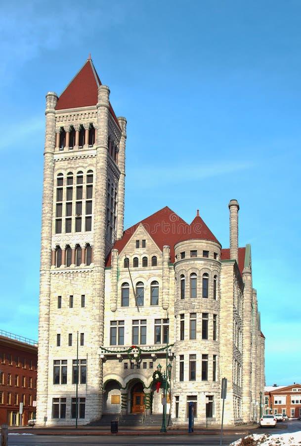 здание муниципалитет новый Syracuse York Стоковое фото RF