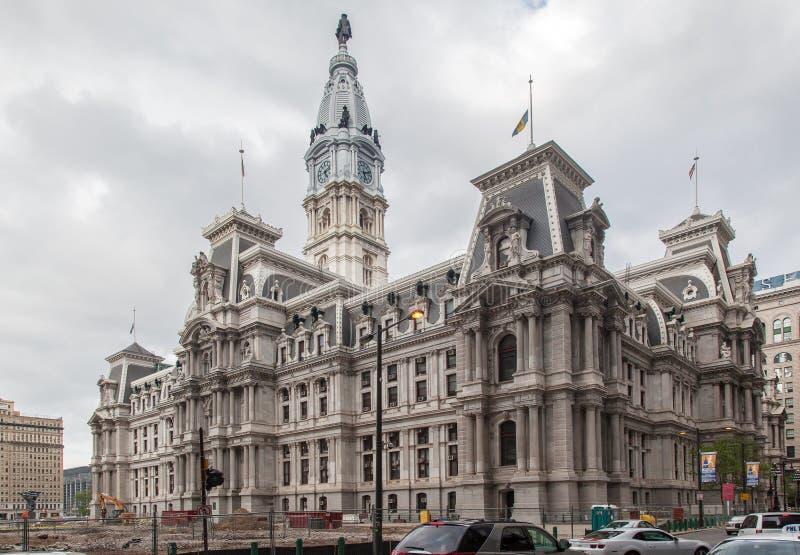 Здание муниципалитет Филадельфия стоковое фото