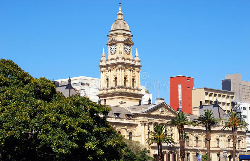 Здание муниципалитет Cape Town (Cape Town, Южная Африка) стоковое фото