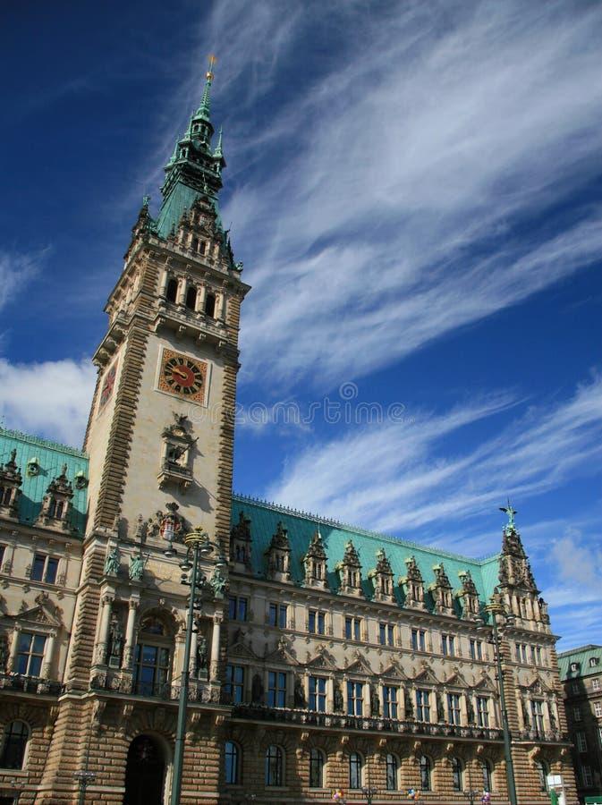 здание муниципалитет hamburg стоковые фотографии rf