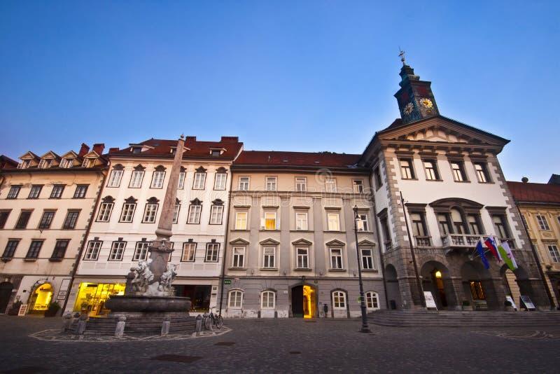 здание муниципалитет ljubljana s стоковые изображения rf