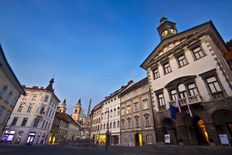 здание муниципалитет ljubljana s стоковое изображение rf
