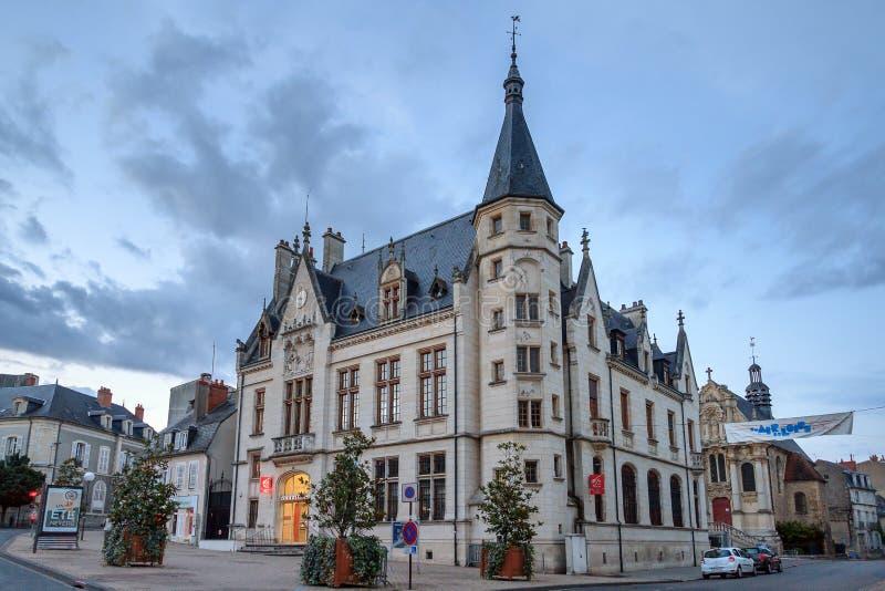 Здание муниципалитет Mairie de Невер стоковые фото