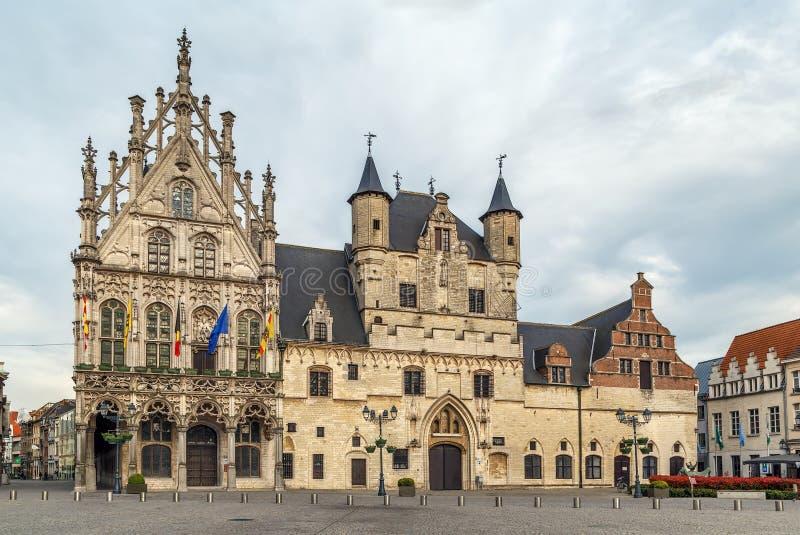 Здание муниципалитет Mechelen, Beldium стоковое фото