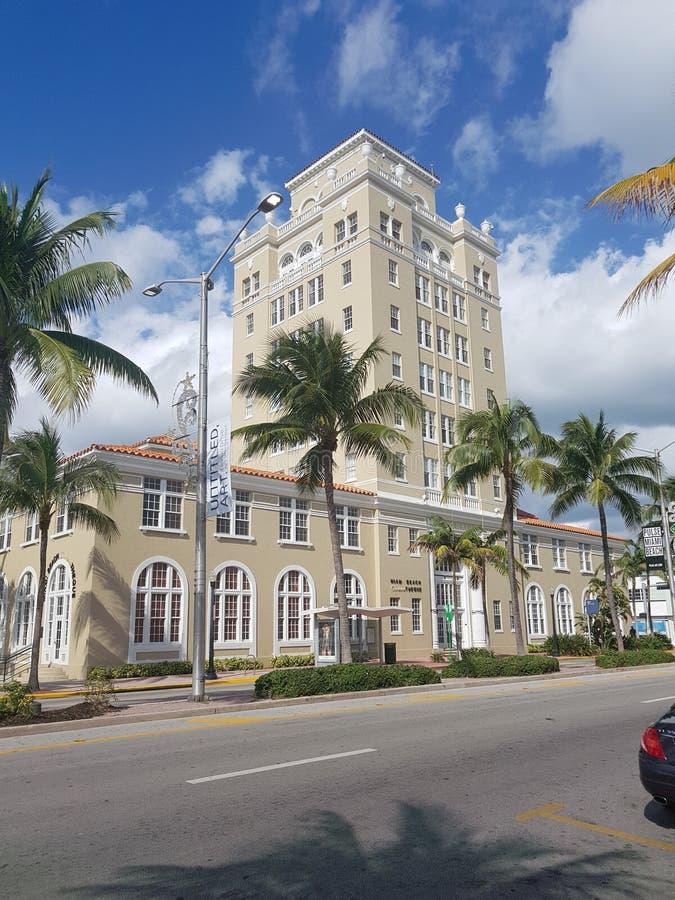 Здание муниципалитет Miami Beach, Флорида стоковое изображение