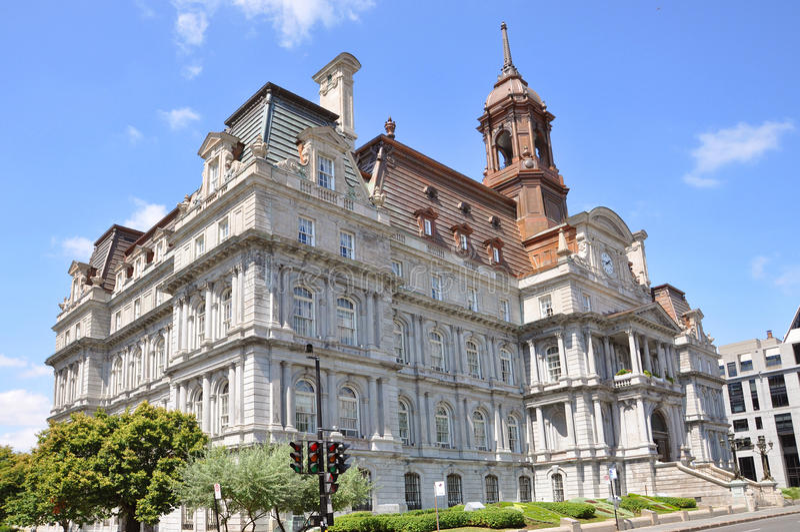 здание муниципалитет montreal стоковые фото