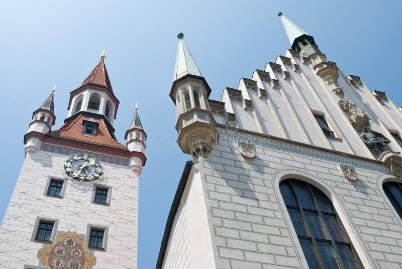 здание муниципалитет munich старый стоковое изображение rf