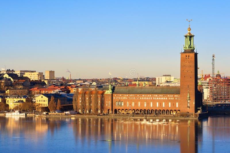 здание муниципалитет stockholm Швеция стоковое изображение rf