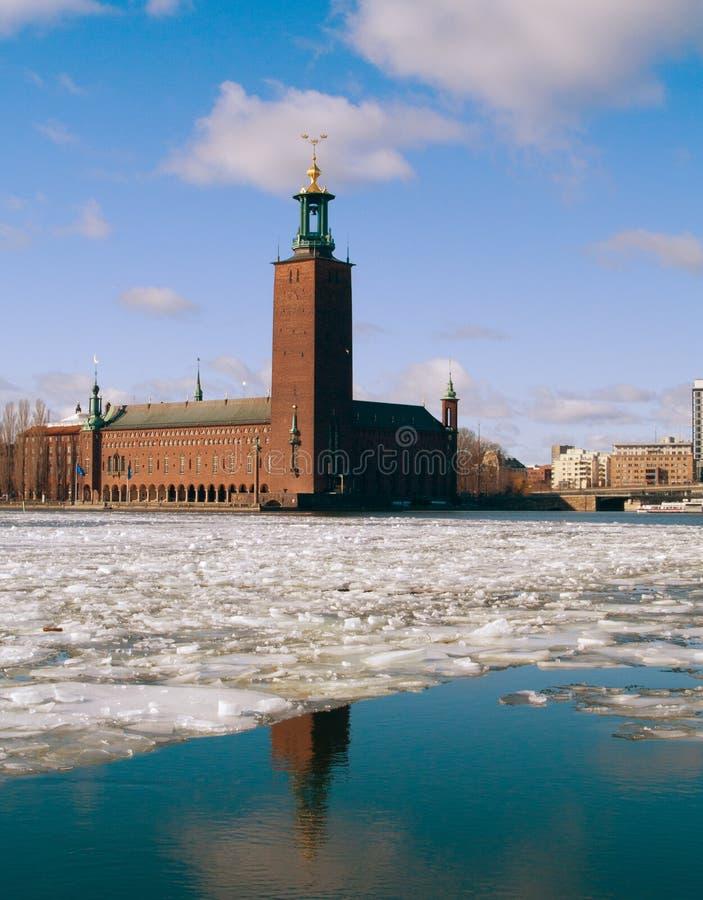 здание муниципалитет stockholm Швеция стоковые изображения rf