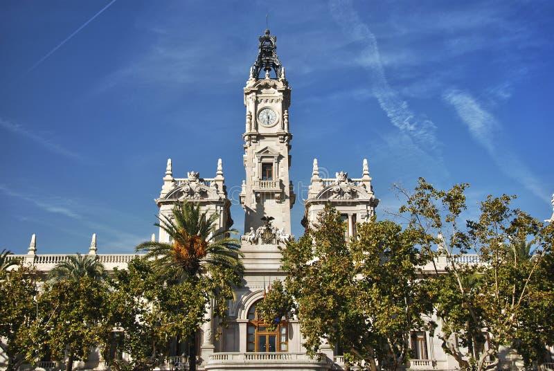 здание муниципалитет valencia здания стоковое фото