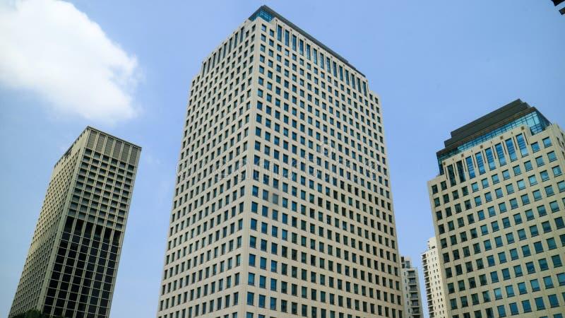 Здание неба в Джакарте стоковое изображение rf