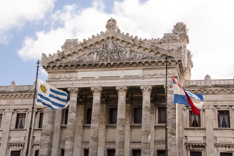 Здание неоклассического стиля законодательное в Монтевидео стоковое фото rf