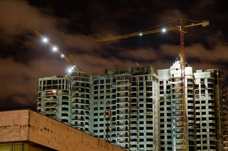 Здание ночи стоковая фотография rf