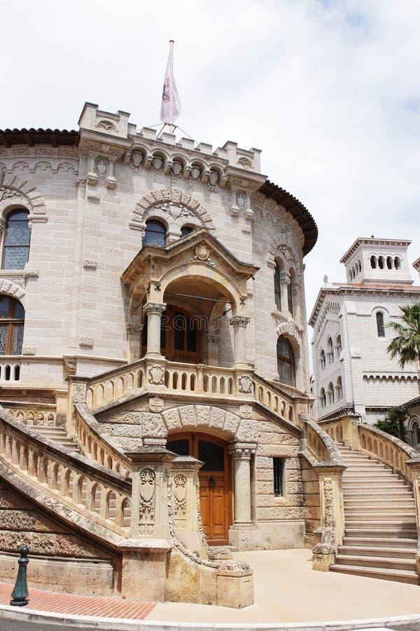 Здание правосудия Le Palais de в городе Монако стоковая фотография