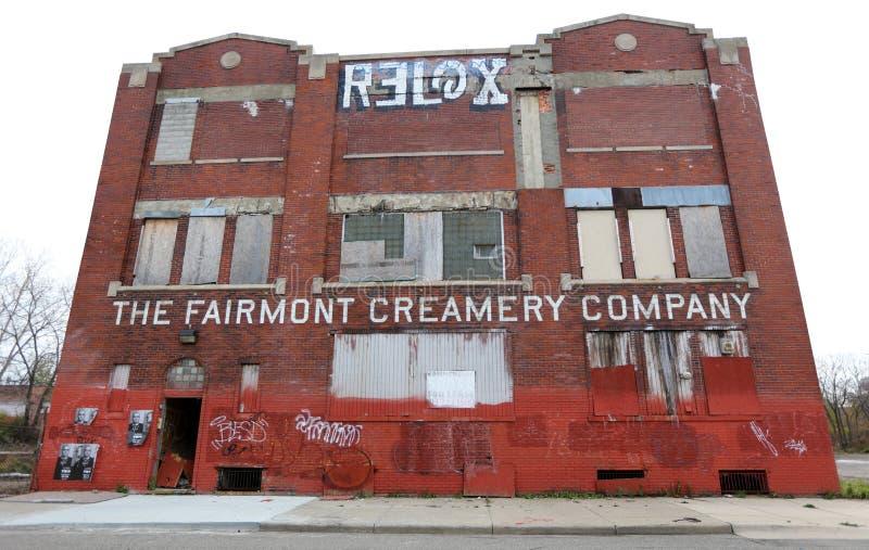 Здание развязности маслобоини Fairmont в Детройт Мичигане стоковая фотография