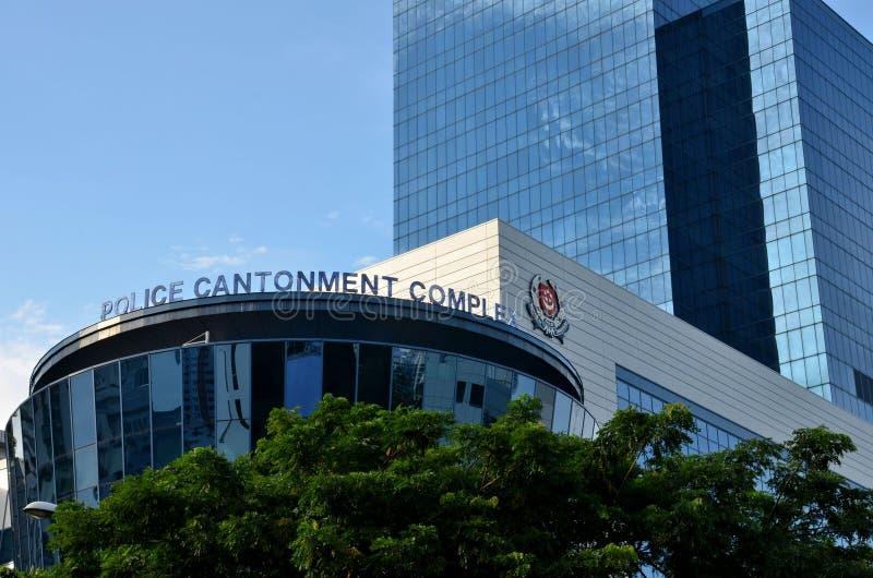 Здание расквартирования полиции Сингапура сложное стоковые изображения rf