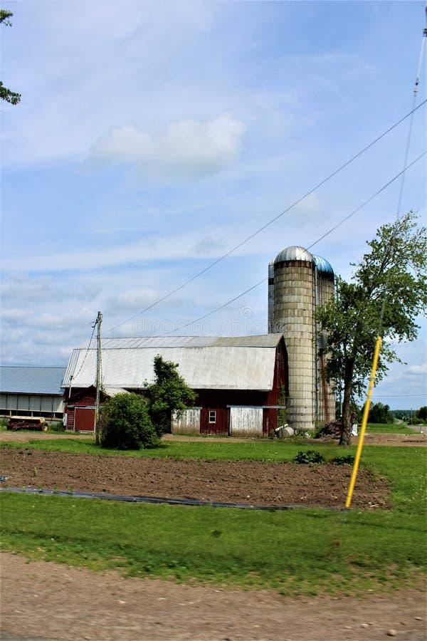 Здание сельского дома в сельском Malone, Нью-Йорке, Соединенных Штатах стоковое изображение