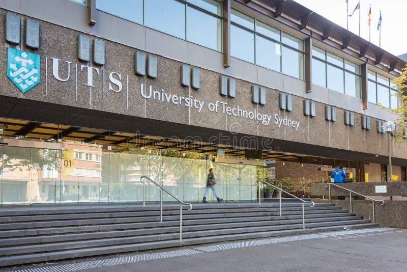 Здание Сиднея технологического университета в Ultimo пригороде стоковая фотография