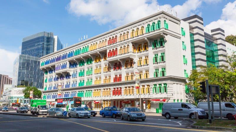 Здание слюды в Сингапуре стоковое фото rf