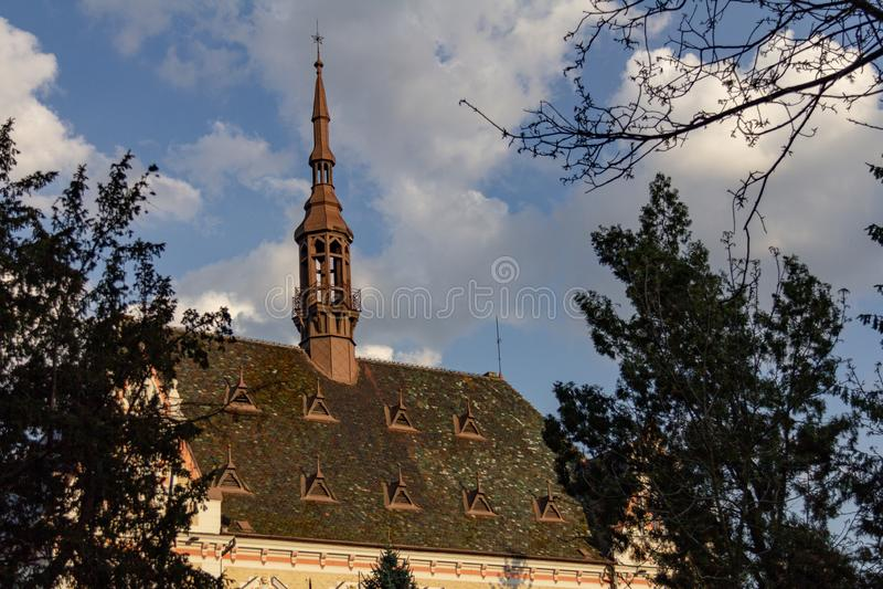 Здание совета округа Hunedora в Deva, Румынии стоковая фотография rf