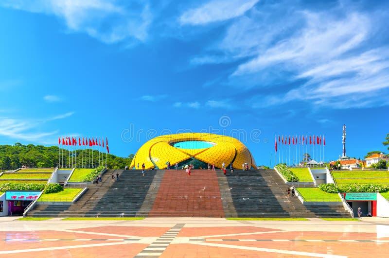 Здание солнцецвета на изумлять Vien бегства квадратный стоковые изображения rf