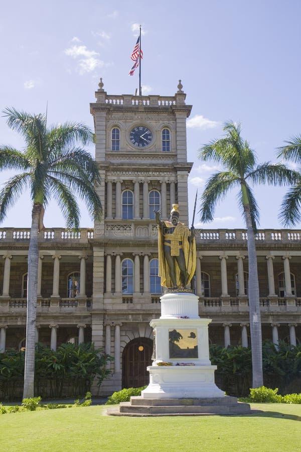 Здание столицы государства, Гонолулу, Гавайские островы стоковые изображения rf