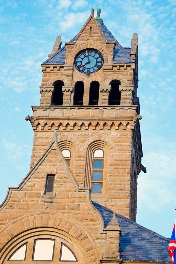 Здание суда графства Оттава - гаван Клинтон, Огайо стоковое изображение rf