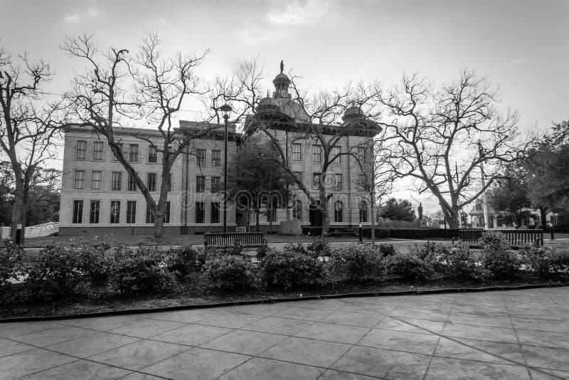 Здание суда Fort Bend County в последней зиме стоковое фото rf