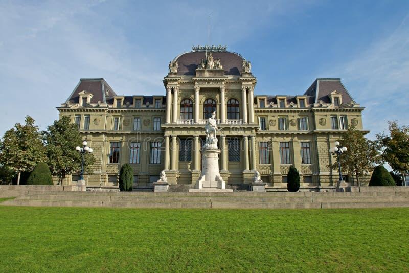 Здание суда Lausanne стоковое изображение rf