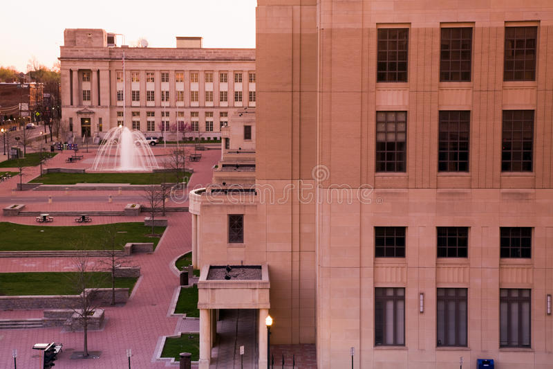здание суда lexington стоковое изображение rf