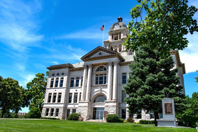 Здание суда Muscatine County в Айове стоковые изображения rf