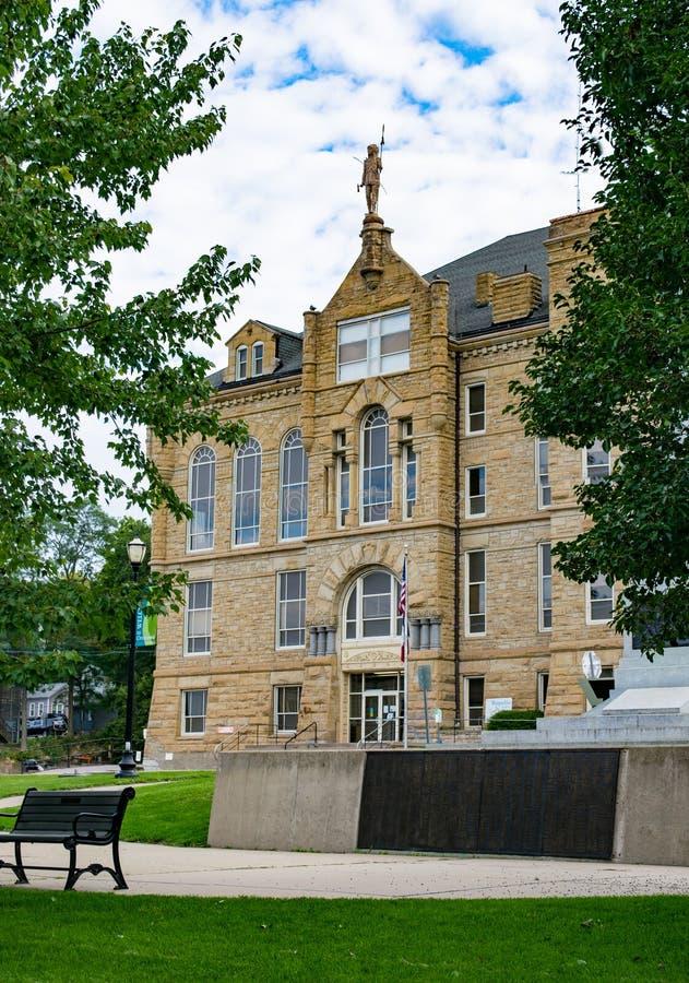 Здание суда Wapello County в Ottumwa, Айове стоковое изображение