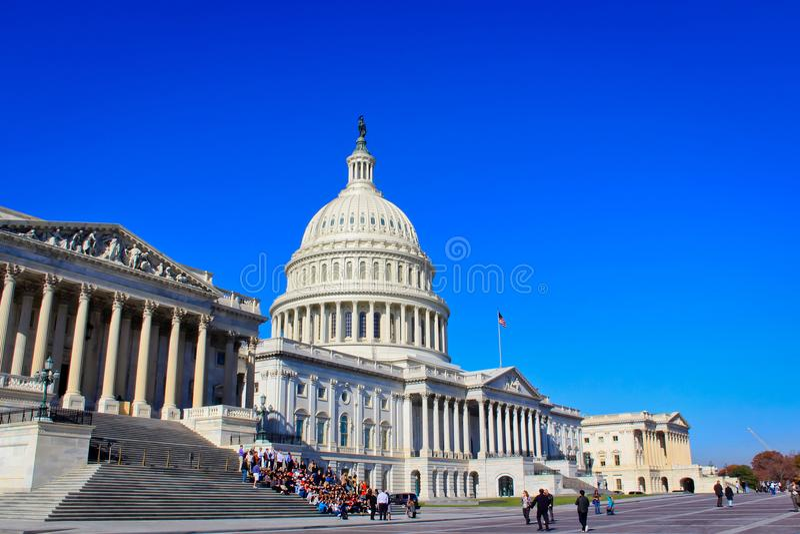 Здание США прописное, Вашингтон, DC стоковое изображение rf