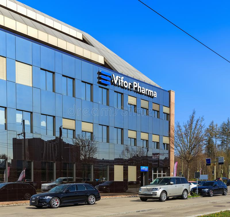 Здание управления группы Vifor Pharma стоковое изображение