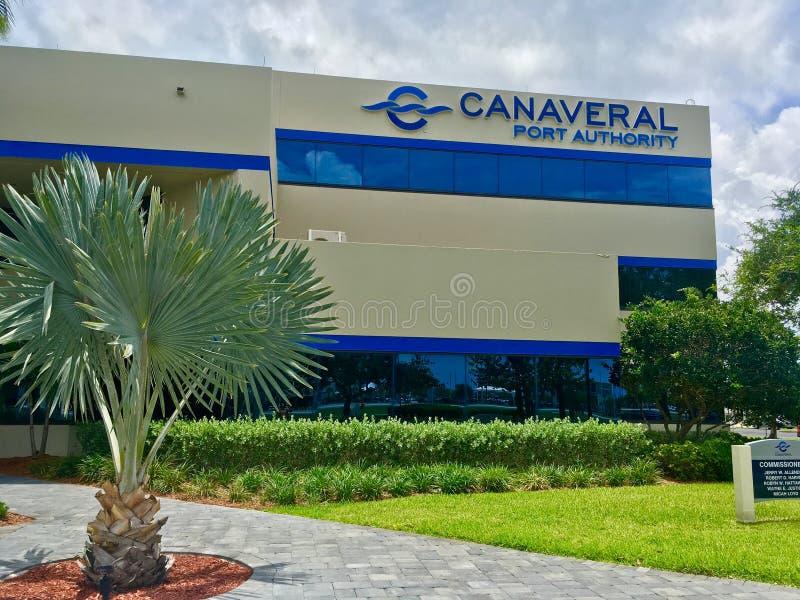 Здание управления порта Canaveral стоковые фото