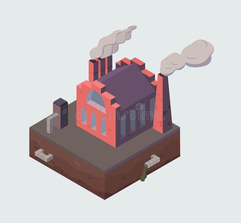 Здание фабрики или завода иллюстрация штока