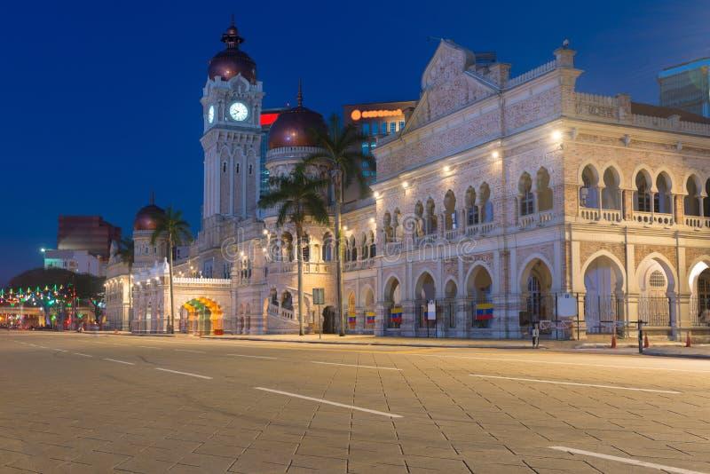 Здание Abdul Samad султана в Куалае-Лумпур, Малайзии стоковые фотографии rf