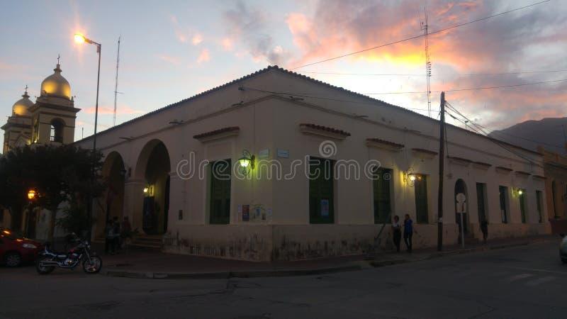 Здание Cafayate Salta Аргентины оле стоковые фотографии rf