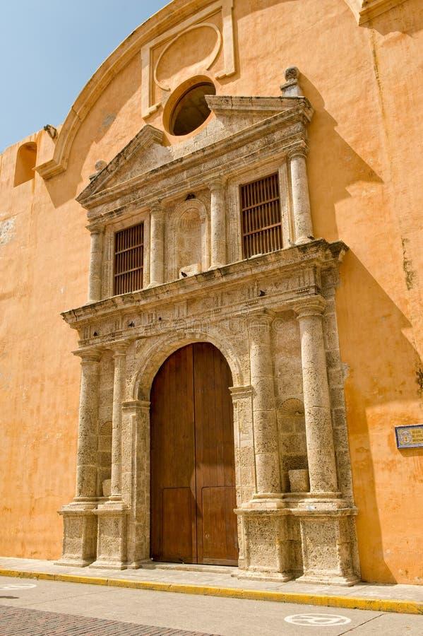 здание cartagena исторический стоковое изображение