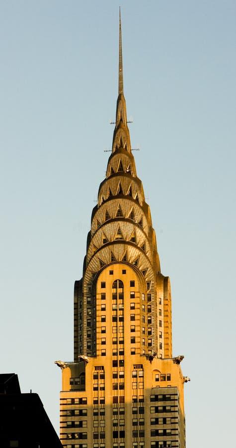 здание chrysler стоковые изображения rf