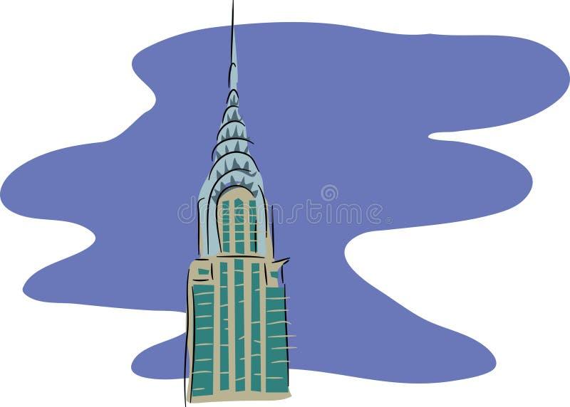 здание chrysler иллюстрация вектора