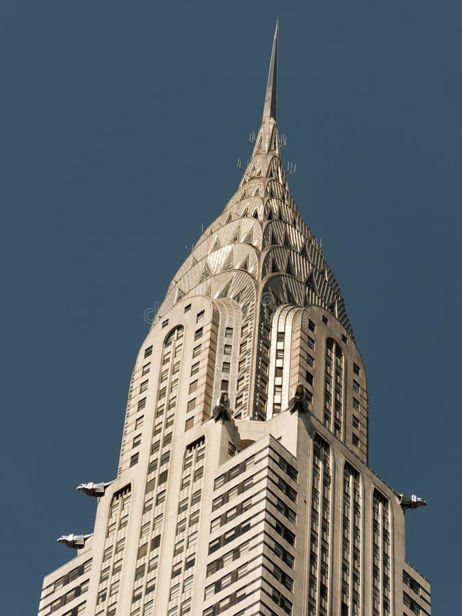 здание chrysler стоковое изображение rf